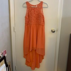 Salmon Hi-Lo Dress